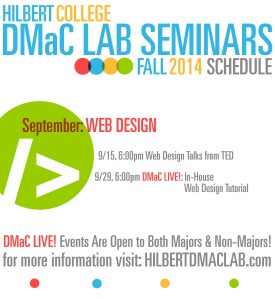 Hilbert DMaC Fall 2014 SCHEDULE WEB MONTH